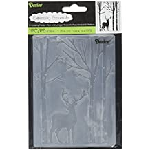 Darice 1219-425 Embossing Folder Deer In The Forest Paper Craft Supply