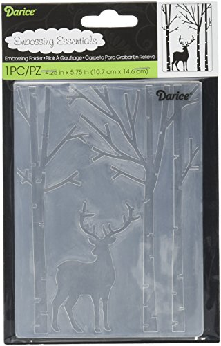 Darice Embossing Folder Deer in The Forest -