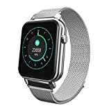 TADAMI Waterproof Bluetooth Smart Watch Heart Rate Monitor Mate for iOS Android Y6 Pro Smart Watches (Silver)