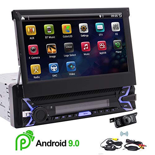 (EinCar Android 9.0 Bluetooth Car Radio GPS Stereo 1 DIN 7