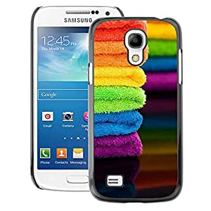 A-type Arte & diseño plástico duro Fundas Cover Cubre Hard Case Cover para Samsung Galaxy S4 Mini i9190 (NOT S4) (Fabric Summer Colorful Rainbow)