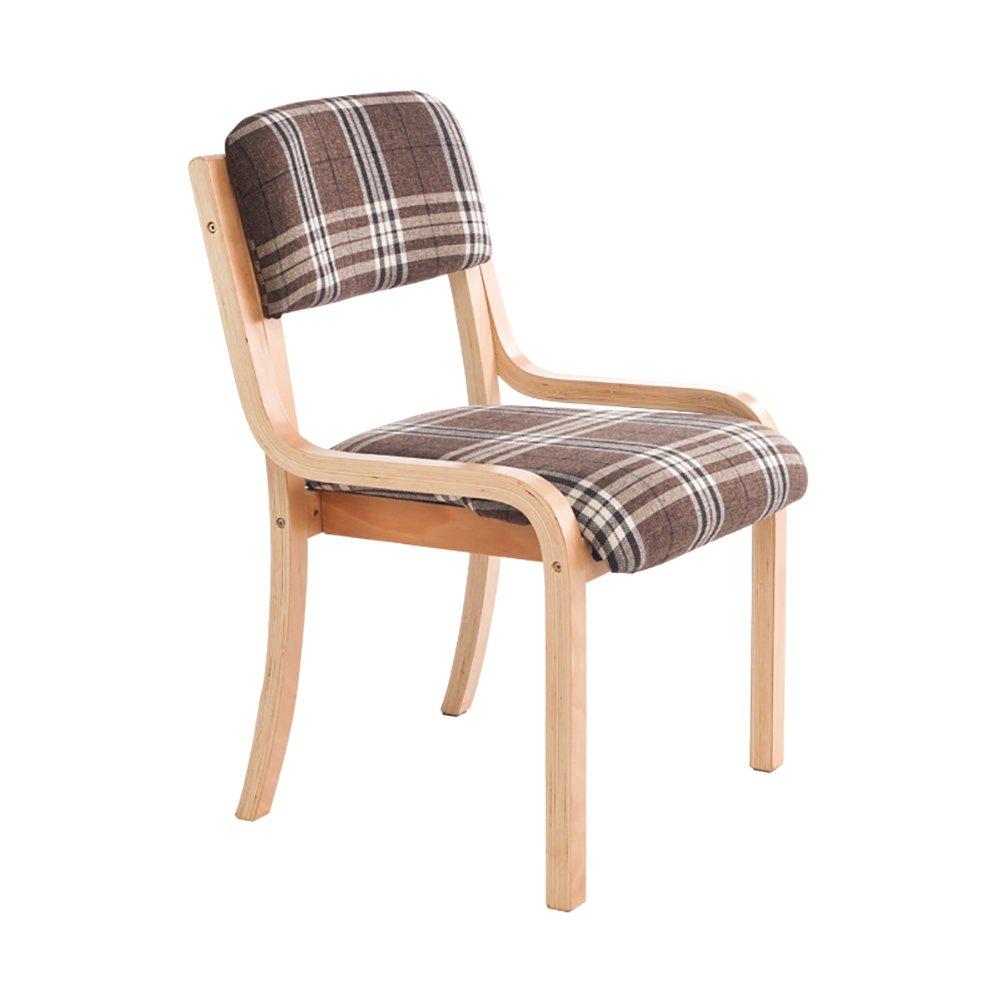 ZJMソリッドウッドのダイニングチェア低背の椅子格子の椅子背もたれの椅子 (色 : Brown, サイズ さいず : Set of 2) B07F9SYKTN Set of 2 Brown Brown Set of 2