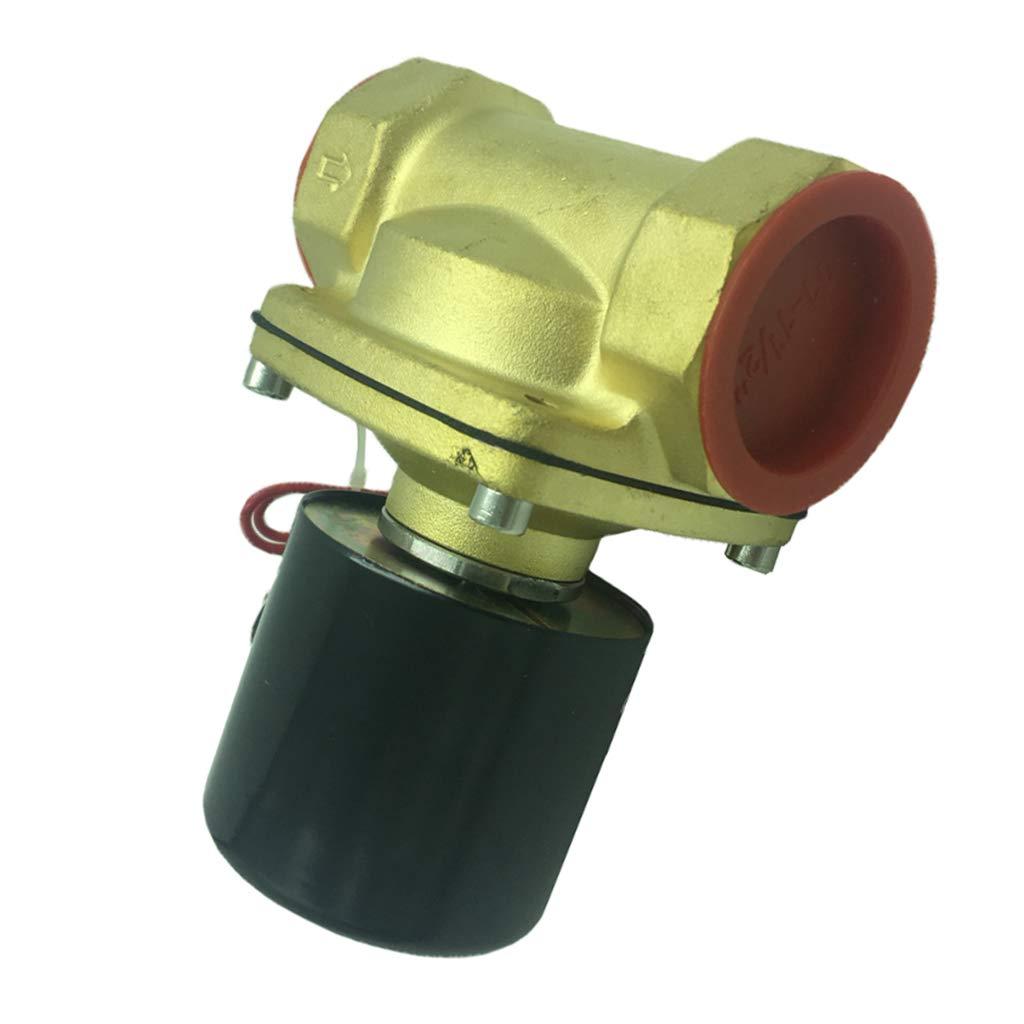 DC24V Homyl V/álvula Solenoide Aire Agua Lat/ón de Control Autom/ático Accesorio de Equipamiento Industrial