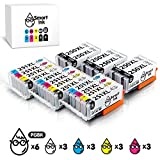 Smart Ink Compatible Ink Cartridge Replacement Canon PGI-250XL PGI 250 XL CLI-251XL CLI 251 XL 18 Pack(6 PGBK & 3 BK/C/M/Y) Works with Canon PIXMA MX922 722 MG5420 5422 5520 5522 5620 6420 6620 7520 6320 7120 IP7220 8720 IX6820