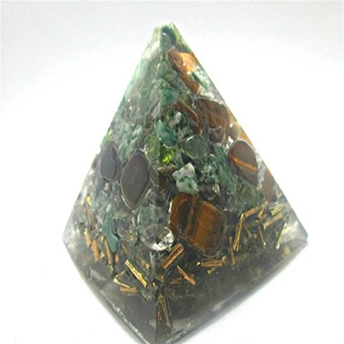 Energy Generator Orgone Pyramid Fused with Alchemy,Tiger's Eye for Attract Abundance - Psychic & EMF Protection by Orgone Vibes