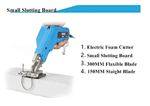 110V Electric Hot Foam Cutter Knife Grooving Wire Styrofoam Engraving Tool Kit Blade Slotting Board DIY Sculpture (with Small Slotting Board) (Tamaño: With small slotting board)