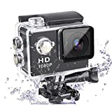 Action Camera 1080P Camera 2-Inch Lcd 140 Degree Wide Angle Lens Waterproof Diving(upto 30m) Sport Camcorder