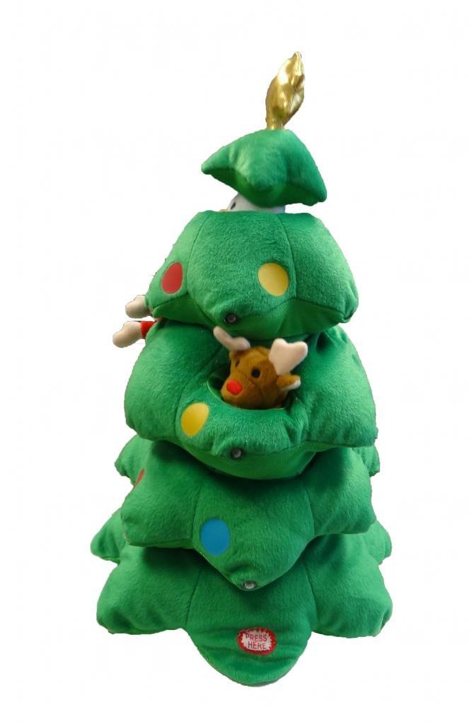 Amazon.com: Singing Christmas Tree Santa Reindeer Snowman ...