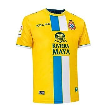 KELME RCD Espanyol Tercera Equipación 2018-2019, Camiseta, Amarillo: Amazon.es: Deportes y aire libre