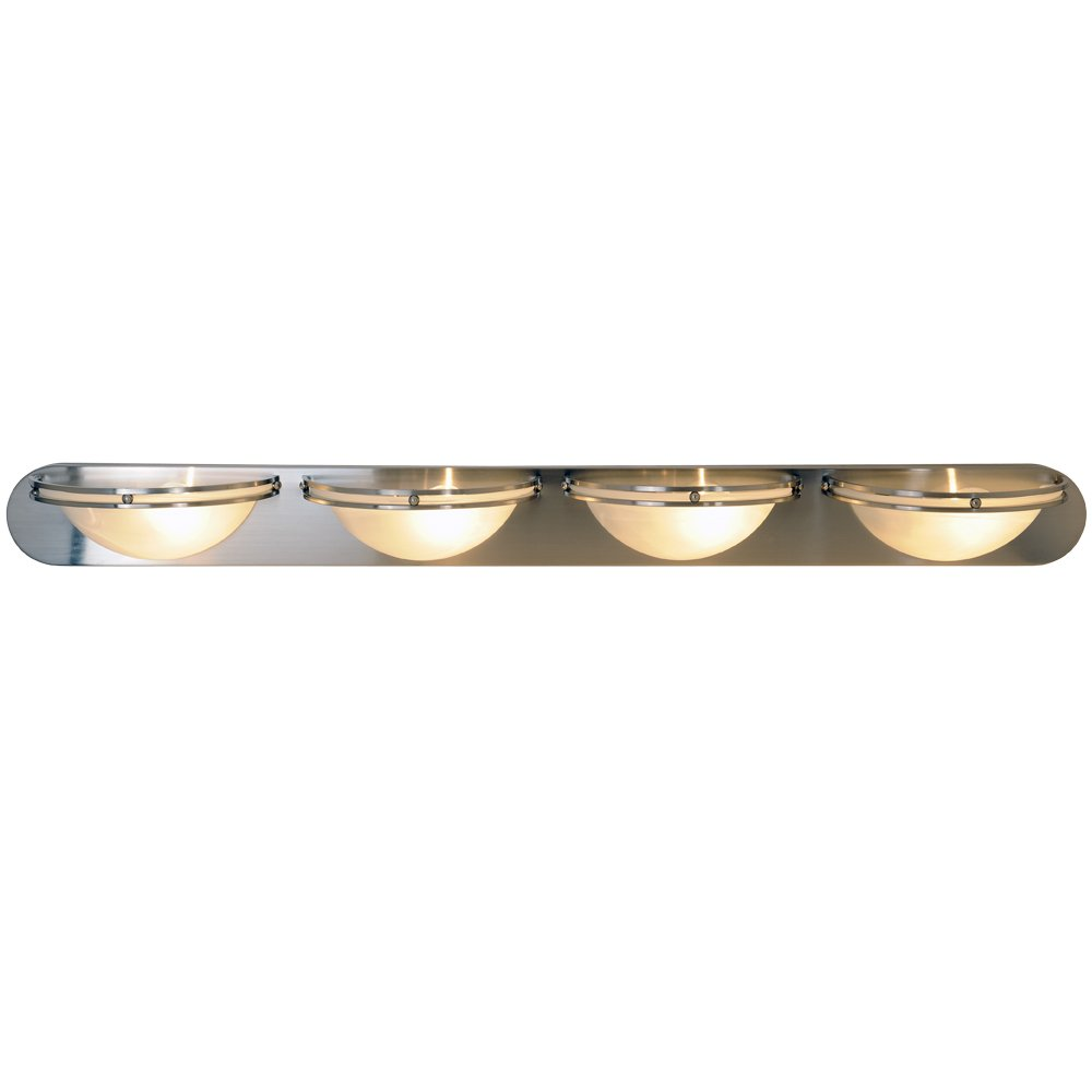 Monument 617609 Contemporary Lighting Collection Vanity Fixture, Brushed Nickel, 48-Inch W by 4-5 8-Inch H by 6-Inch E