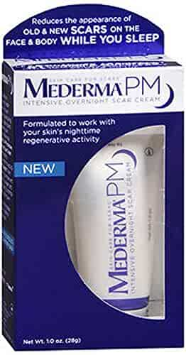 Mederma PM Intensive Overnight Scar Cream - Works with Skin's Nighttime Regenerative Activity - Once-Nightly Application Is Clinically Shown to Make Scars Smaller & Less Visible - 1.0 oz.
