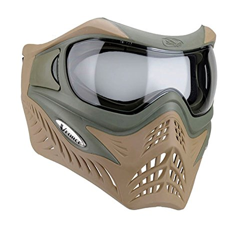 VFORCE GRILL Paintball Thermal Mask - Dual Olive Drab Desert Tan ()