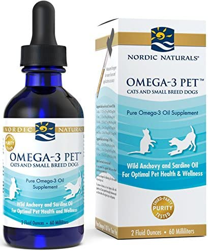 Nordic Naturals Omega 3 Pet – Fish Oil Liquid For Cats and Small Dogs, Omega-3s,EPA And DHA Supports Skin, Coat, Joint And Overall Health In Triglyceride Form For Optimal Absorption, 2 Ounces