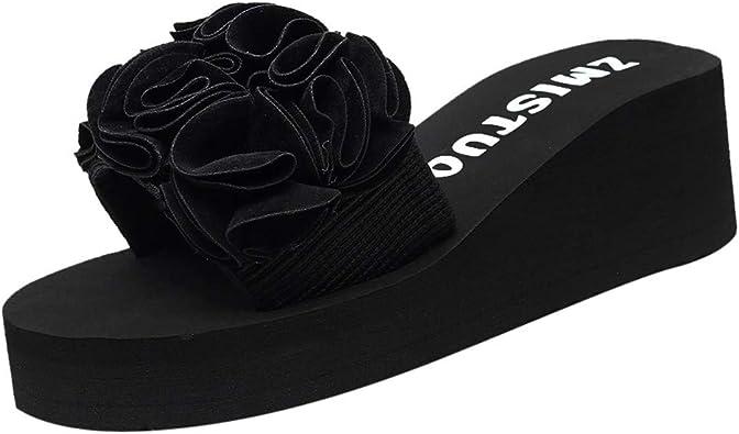 ZARLLE Chanclas Mujer Sandalias Antideslizantes De Verano Chanclas Zapatos De Playa Calzado Mujer Sneakers CuñAs Mujer Zapatillas De Lentejuelas Chancletas Al Aire Libre De Interior: Amazon.es: Zapatos y complementos