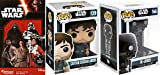 AYB Products Funko Rogue one Character Pop Captain Cassian Andor #139 & K-2SO #146 Droid Bobble Head + Star Wars Episode VII Tradeables Fathead Stickers Bundle
