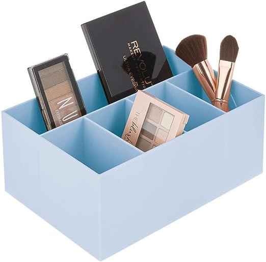 mDesign Organizador de Maquillaje para Lavabo y tocador – Caja ...