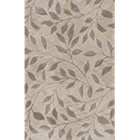 Dalyn Studio Ivory, Taupe And Khaki Vines On Subtle Diamond Pattern 5 by 7 feet 9-Inch Area Rug