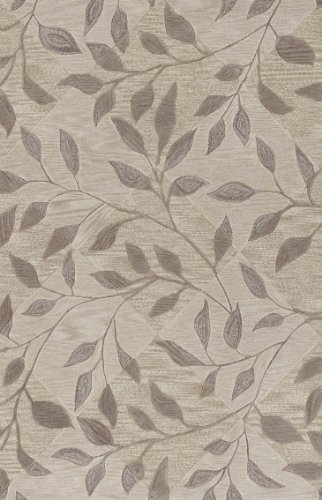 Dalyn Studio Ivory, Taupe And Khaki Vines On Subtle Diamond Pattern 5 by 7 feet 9-Inch Area - Dalyn Studio