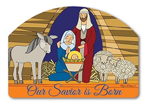 Stained Glass Yard Sign (Yard DeSign Stained Glass Nativity Yard Sign #71235)