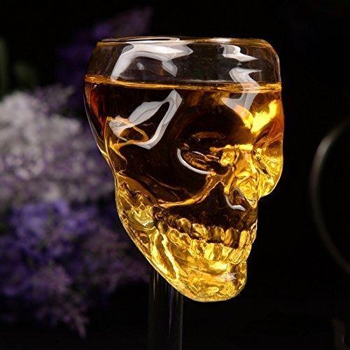 2/pcs 75/ml Creative T/ête de mort squelette Verre /à vin Tasse carafes Goblet Verre /à vin rouge Vin Cocktail Whisky Bi/ère Champagne