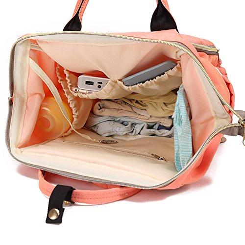 NPRADLA Bolsa de mamá Bolsa de pañales Bolsa de bebé de gran capacidad Bolsa de viaje de diseñador de mochila de viaje