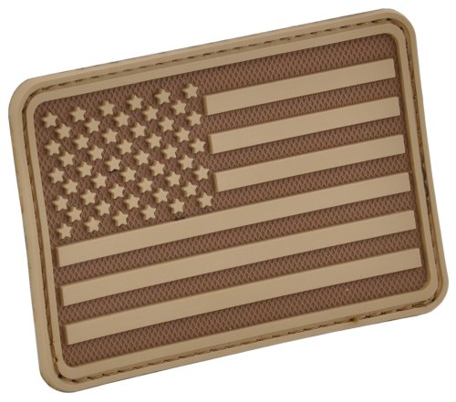 USA Flag (Left Arm) Rubber Velcro Patch by Hazard 4(R) - Coyote