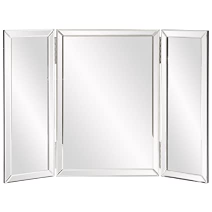 tri fold vanity mirror Amazon.com: Howard Elliott Tripoli Trifold Vanity Mirror, Table  tri fold vanity mirror