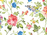 Pack of 1, Watercolor Vines 30'' x 417' Half Ream Roll Gift Wrap for Holiday, Party, Kids' Birthday, Wedding & Special Occasion Packaging
