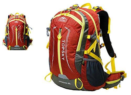 Bergsteiger-Rucksack Umhängetasche Männer und Frauen Umhängetasche Tasche im Freien Rucksack Camping Wandern Radfahren ( farbe : Maroon , größe : 40L )