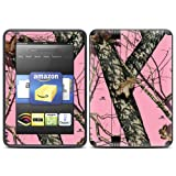 "Kindle Fire HD (fits 7"" only) Skin Kit/Decal - Mossy Oak Break-Up Camo, Pink"