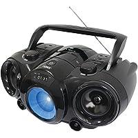 Naxa NPB-261 Bluetooth Boom Box MP3 CD Player AM/FM Radio 3.5mm Black Electronic Accessories