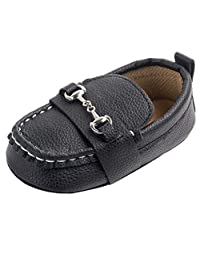 LNGRY Baby Shoes,Toddler Infant Kids Girls Boys Metal Decor Anti-Slip Soft Sole Moccasin Loafers Flats Crib Shoes