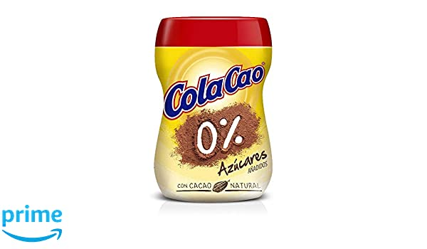 Cola-Cao - Polvo De Cacao, 0% Azúcares - 300 ml: Amazon.es: Amazon Pantry