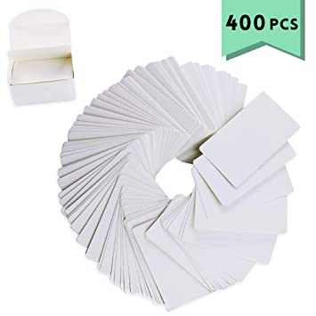 Amazon.com: weoxpr 400pcs blanco en blanco Kraft papel de ...