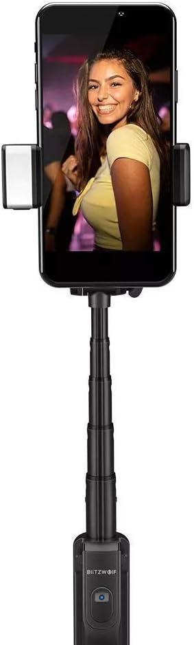 Crystalzhong Camera Tripod Extendable Bluetooth Tripod Selfie Stick with Fill Light Not Hurt Eye for Phone Sport Camera Selfie Stick Tripod Color : Black, Size : 820mm