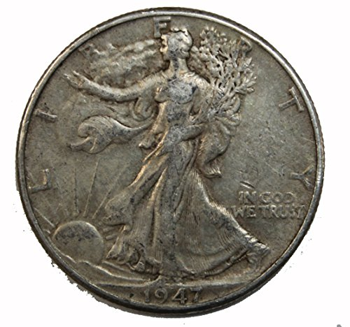 1947 D Walking Liberty Half Dollar 50c Fine