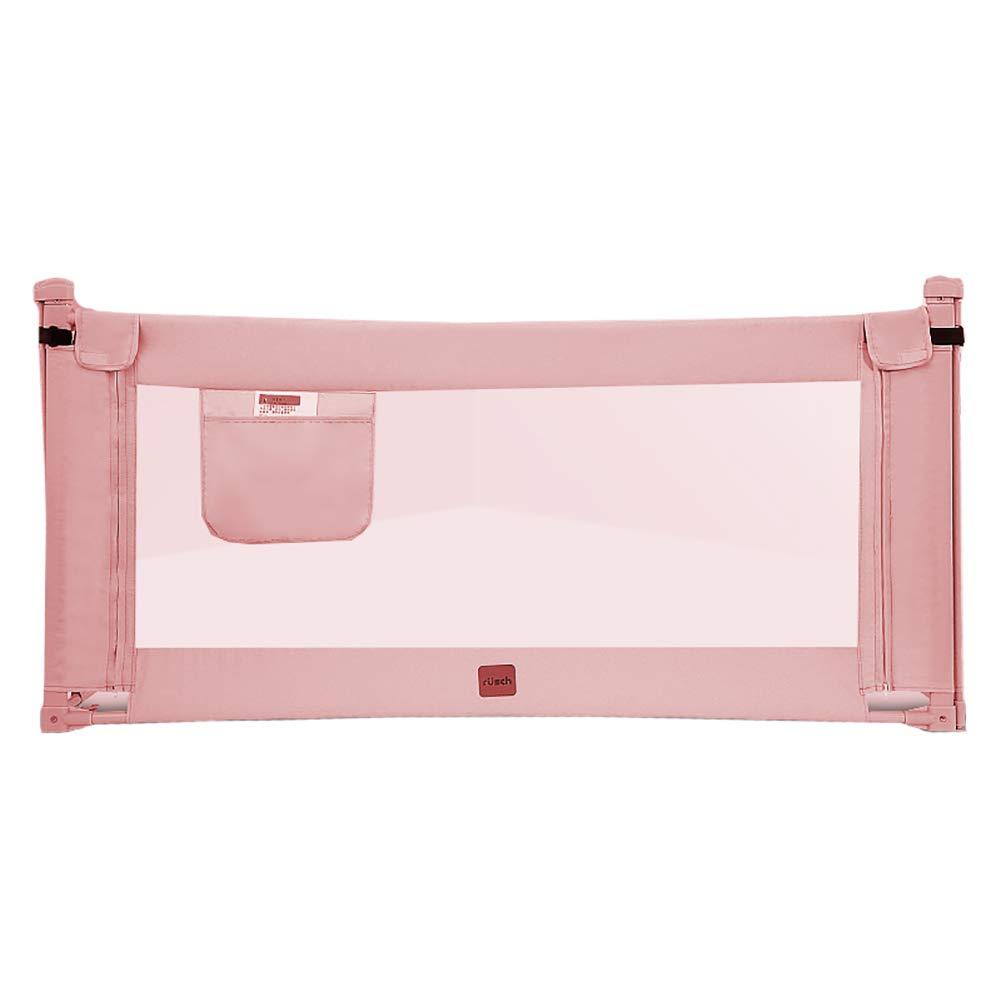 ベッドフェンス, ポータブルベビーベッドのレールガード、幼児の安全ベットレーレ垂直エレベーターベビーガードキッズ/チャイルド - 70cmの高さ (色 : Pink, サイズ さいず : 180cm) 180cm Pink B07L786DH2