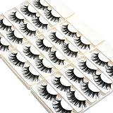 lashes Wleec Beauty Dramatic Eyelashes Set Long Strip Lashes Handmade False Eyelash Pack #27/L (15 Pairs/3 Pack)