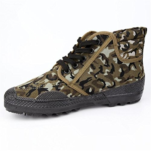 Always Pretty Unisex Lace up Working Safety Shoes Slip-Resistant High-Cut Sneaker Camouflage01