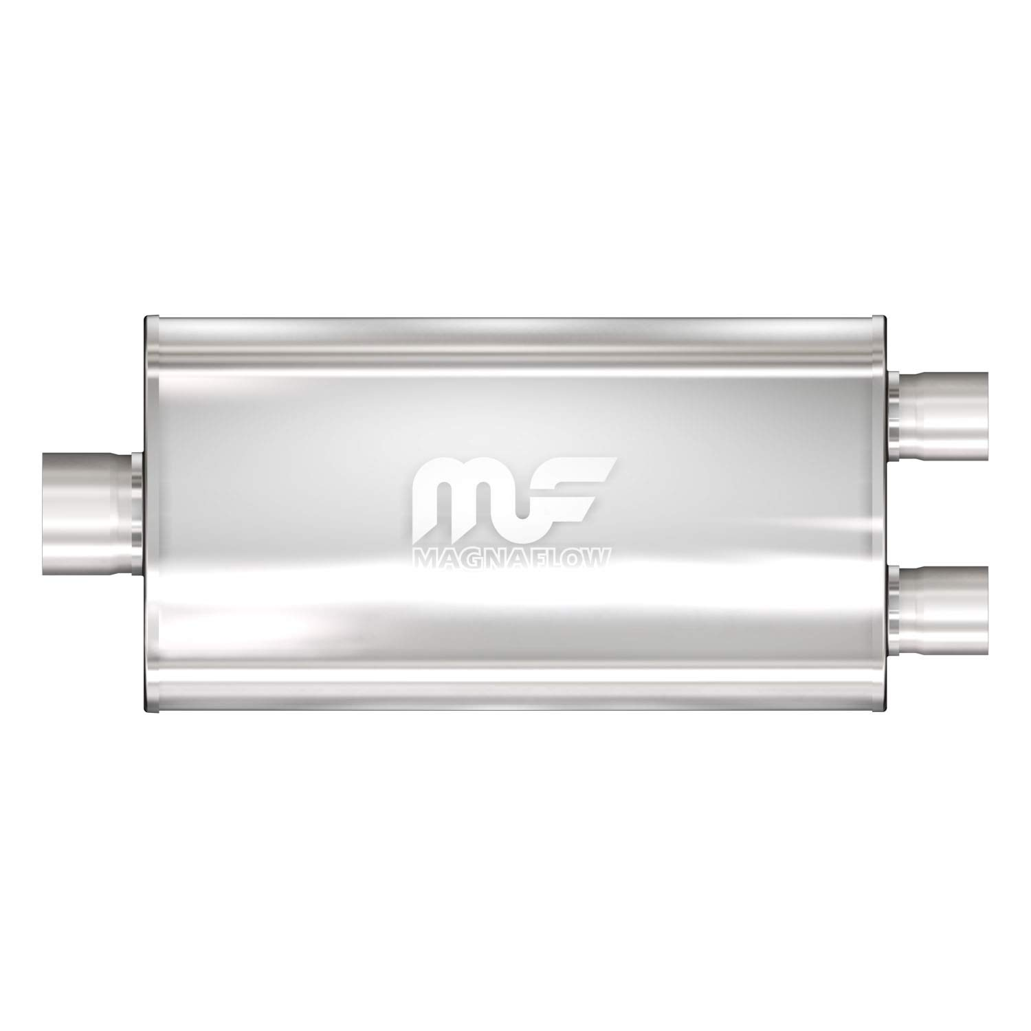 Magnaflow 12588 Satin Stainless Steel Dual Oval Muffler MagnaFlow Exhaust Products