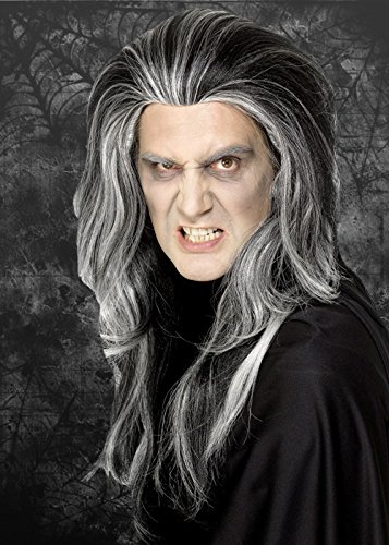 (Mens Halloween Long Grey Vampire)