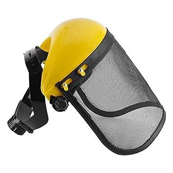 DEWIN Malla de Seguridad Visor - Sombrero de Seguridad con la Cara de Malla Completa Visera, for el Registro de Desbrozadora Protección Forestal