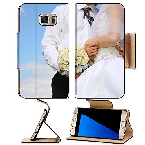 Luxlady Premium Samsung Galaxy S7 EDGE Flip Pu Leather Wallet Case IMAGE ID 2275036 wedding body (Cupid Couples Costumes)