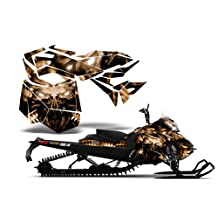 CreatorX Ski-Doo Rev Xm Summit Snowmobile Sled Graphics Kit Wrap Decal Replicator Brown
