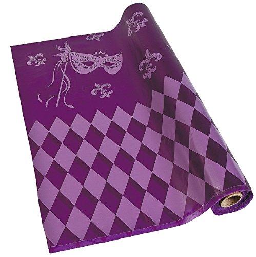 Mardi Gras Table Cover (Masquerade Tablecloth Roll (40