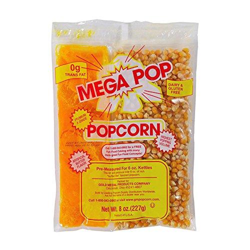 Gold Medal Mega-Pop Popcorn Kettle Kit, 8 oz. | 24/Case by Gold Medal