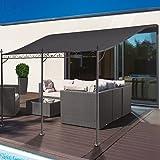 Probache Auvent pergola adossé pour terrasse GM 3 x 4 m avec toile grise
