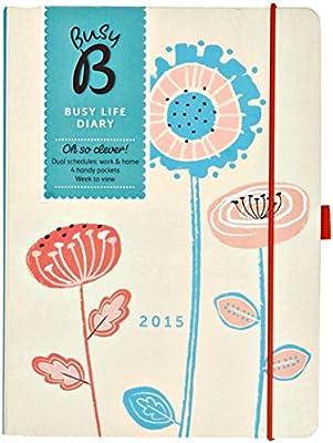 BusyB - Agenda, diseño de flores: Amazon.es: Oficina y papelería