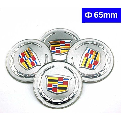 4pcs C083 65mm Car Styling Accessories Emblem Badge Sticker Wheel Hub Caps Centre Cover Cadillac ATS CTS EXT SRX XTS XLR