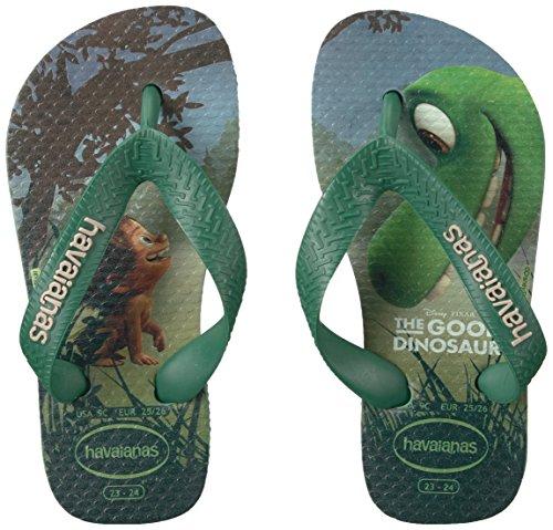 Pictures of Havaianas Kids Flip Flop Sandals, The Good Dinosaur, (Toddler/Little Kid),Green Tea, Green Tea,33/34 BR (3-4 M US Little Kid) 4
